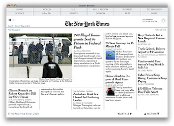 Times Reader Mac OS X - First Page